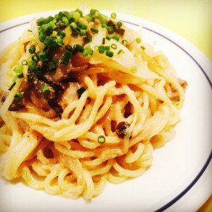 明太子ときのこのスパゲッティ