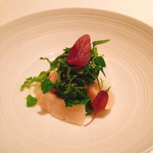 山菜と帆立貝